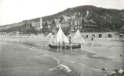 """/ CPSM FRANCE 14 """"Houlgate, vue sur la plage et le bois de Boulogne """""""