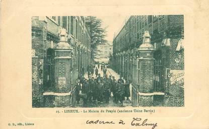 """/ CPA FRANCE 14 """"Lisieux, la maison du peuple"""""""