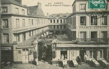 """/ CPA FRANCE 14 """"Lisieux, hôtel de France et d'Espagne"""""""