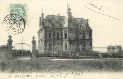"/ CPA FRANCE 14 ""Luc sur Mer, le château"""