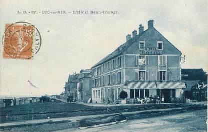 """/ CPA FRANCE 14 """"Luc sur Mer, l'hôtel Beau Rivage"""""""