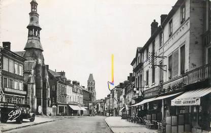 "/ CPSM FRANCE 14 ""Orbec, rue Grande et chapelle de l'Hospice"""
