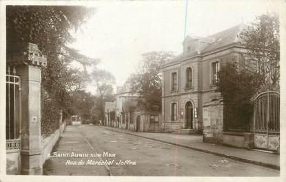 """/ CPA FRANCE 14 """"Saint Aubin sur Mer, rue du maréchal Joffre"""""""
