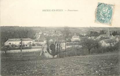 "/ CPA FRANCE 78 ""Brueil en Vexin, panorama"""