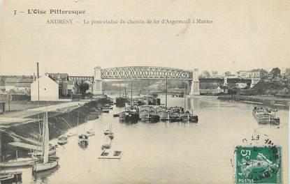 """/ CPA FRANCE 78 """"Andrésy, le pont viaduc du chemin de fer"""""""