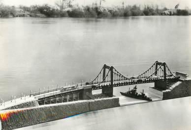 """/ CPSM FRANCE 76 """"Maquette du pont de Tancarville"""""""