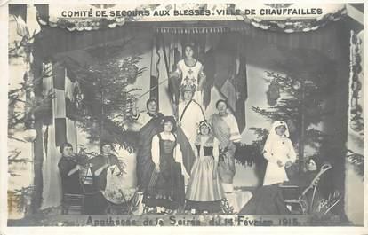 """CARTE PHOTO FRANCE 71 """"Chauffailles, 1915"""""""