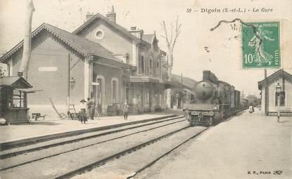 """CPA FRANCE 71 """"Digoin, la gare"""" / TRAIN"""