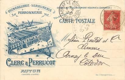 "CPA FRANCE 71 ""Autun, Quincaillerie Serrurerie Ferronnerie"""
