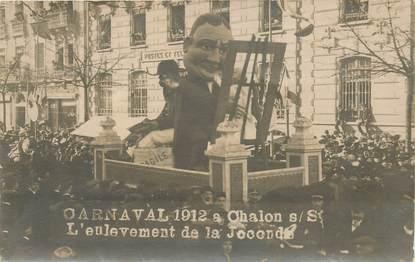 "CARTE PHOTO FRANCE 71 ""Chalon sur saone, carnaval 1912"" / JOCONDE"