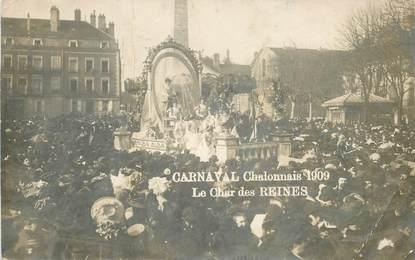 "CARTE PHOTO FRANCE 71 ""Chalon sur saone, carnaval 1909"""