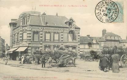 """CPA FRANCE 76 """"Gournay en Bray, le marché à la Paille"""""""