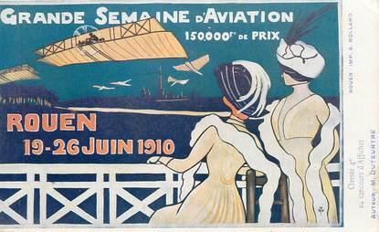 "CPA FRANCE 76 ""Rouen, Semaine 'aviation, 1910"""