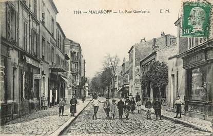 "CPA FRANCE 92 ""Malakoff, la Rue Gambetta"""
