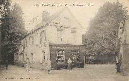 """CPA FRANCE 76 """"Rouelles, le bureau de Tabac, Epicerie"""""""