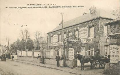 "CPA FRANCE 76 ""Grand couronne, les essarts, Hotellerie Saint hubert"""