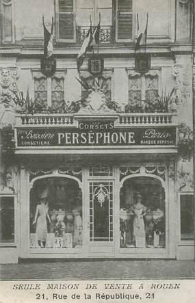 """CPA FRANCE 76 """"Rouen, Maison Perséphone, Corsets"""""""