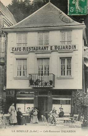 """CPA FRANCE 76 """"La Bouille, Café restaurant Dujardin"""""""