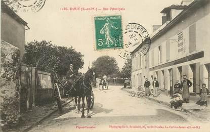 "CPA FRANCE 77 ""Doue, rue principale"""