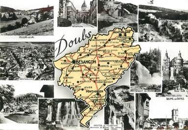 "/ CPSM FRANCE 25 ""Doubs"" / CARTE GEOGRAPHIQUE"