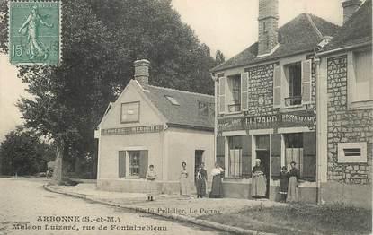 """CPA FRANCE 77 """"Arbonne, Maison Luizard, rue de Fontainebleau"""""""