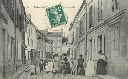 "CPA FRANCE 77 ""Bray Sur Seine, rue Joseph Barra"""