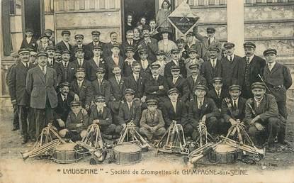 """CPA FRANCE 77 """"Champagne sur Seine, L'Aubépine, orchestre"""""""