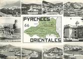 """66 PyrÉnÉe Orientale / CPSM FRANCE 66 """"Pyrénées Orientales"""" / CARTE GEOGRAPHIQUE"""