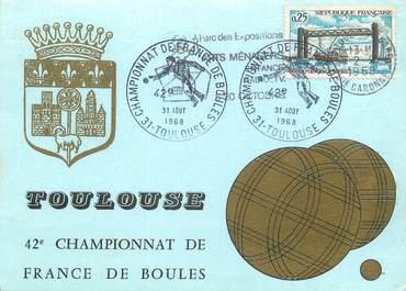 """/ CPSM FRANCE 31 """"Toulouse, championnat de France de boules"""""""