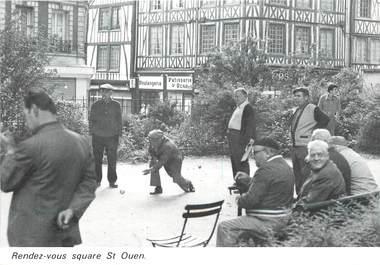 """/ CPSM FRANCE 76 """"Rouen, square de Saint Ouen"""" / BOULE"""