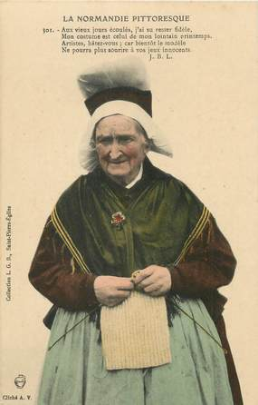 """/ CPA FRANCE 50 """"Type Normand"""" / FOLKLORE"""