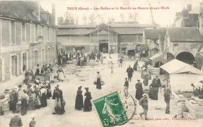 """CPA FRANCE 61 """"Trun, Les Halles et le marché au Beurre et aux Oeufs"""""""