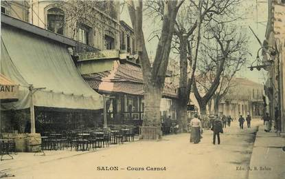 "CPA FRANCE 13 ""Salon, cours carnot"""