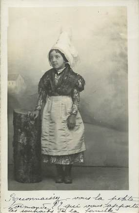 / CARTE PHOTO FRANCE 61 PETITE FILLE / FOLKLORE