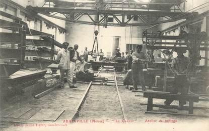 "CPA FRANCE 55 ""Abainville, atelier de taillage"""