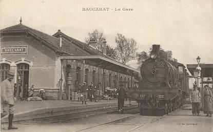 """CPA FRANCE 54 """"Baccarat, la gare"""" / TRAIN"""