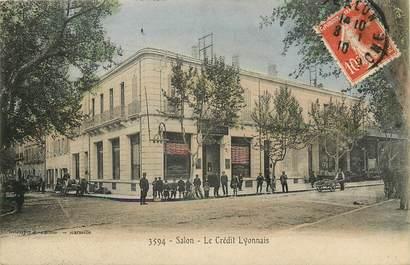 """CPA FRANCE 13 """"Salon, banque le Crédit Lyonnais"""""""