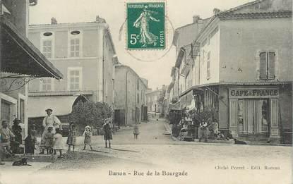 """CPA FRANCE 04 """"Banon, rue de la Bourgade"""""""