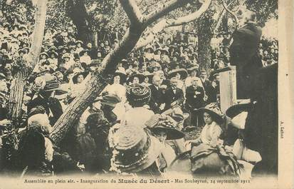 """CPA FRANCE 30 """"Inauguration du Musée du Désert, 1911, près de Mialet"""""""