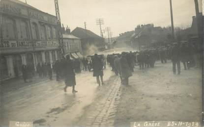 """CARTE PHOTO FRANCE 02 """"Guise, la Grève 1929"""""""