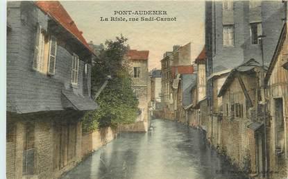 "CPA FRANCE 27 ""Pont Audemer, rue Sadi Carnot"""