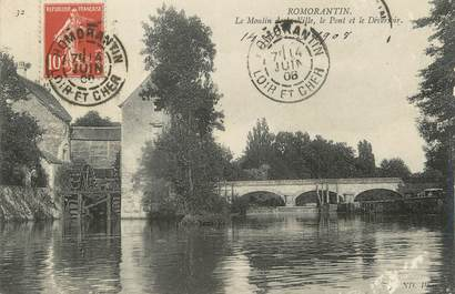 "/ CPA FRANCE 41 ""Romorantin, le moulin de la ville"""