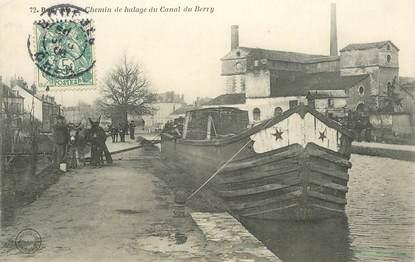 """CPA FRANCE 18 """"Bourges, chemin de halage du canal du Berry"""" / ANE"""