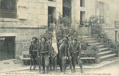 """CPA FRANCE 74 """"Taninges, chasseurs alpins"""""""
