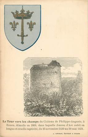 """/ CPA FRANCE 76 """"Rouen, la tour vers les champs"""""""