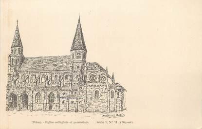 """/ CPA FRANCE 78 """"Poissy, église collégiale et paroissiale"""" série 1 nr 11"""""""