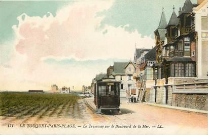 """CPA FRANCE 62 """"Le Touquet Paris Plage, le tramway sur le boulevard de la mer"""""""