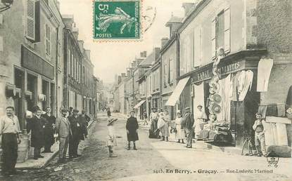 "CPA FRANCE 18 ""En Berry, Graçay, rue Ludovic Martinet"""