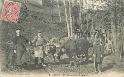 """CPA FRANCE 87 """"Limoges, type d'attelage limousin"""""""