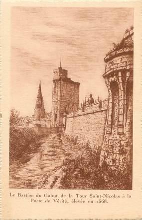 """/ CPA FRANCE 17 """"La Rochelle, le bastion du Gabut de la tour Saint Nicolas"""""""